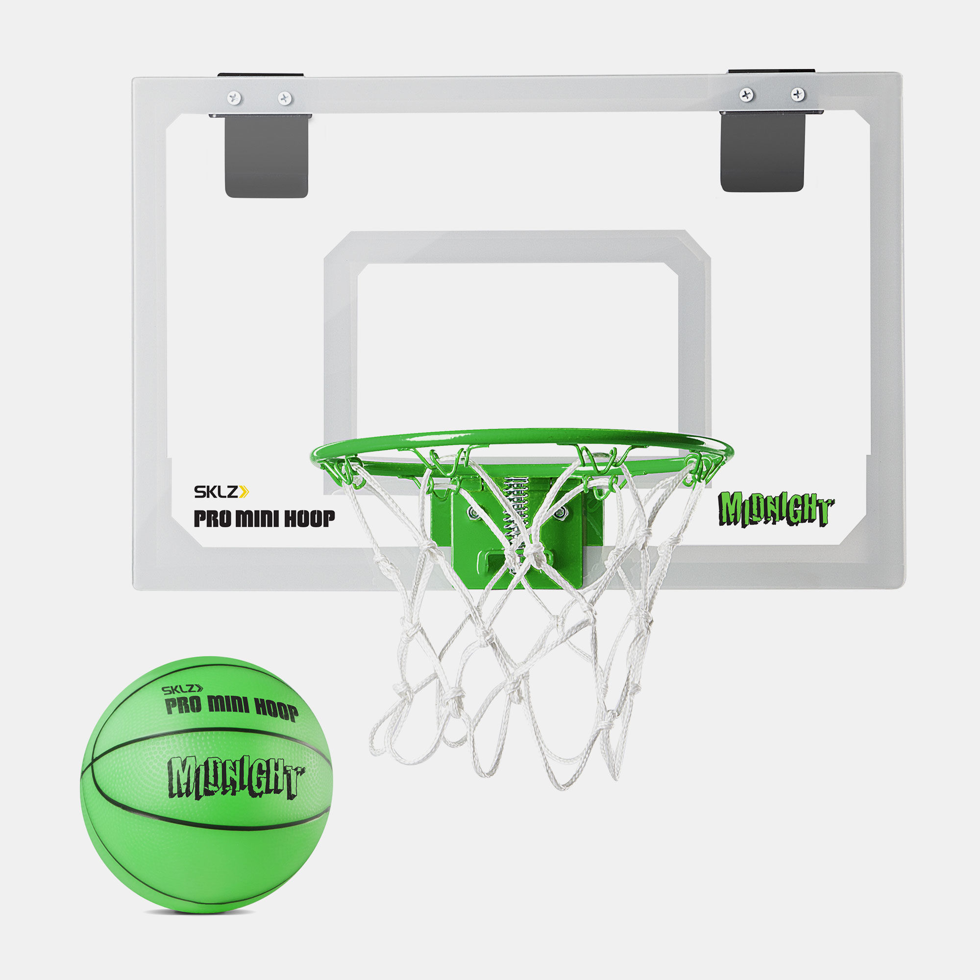 SKLZ Pro Mini Basketball Hoop with Ball, Glow in the Dark - 18 x 12 inches