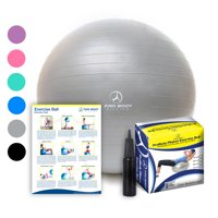 Exercise Ball with Pump - Professional Grade Anti-Burst Fitness and Balance Ball