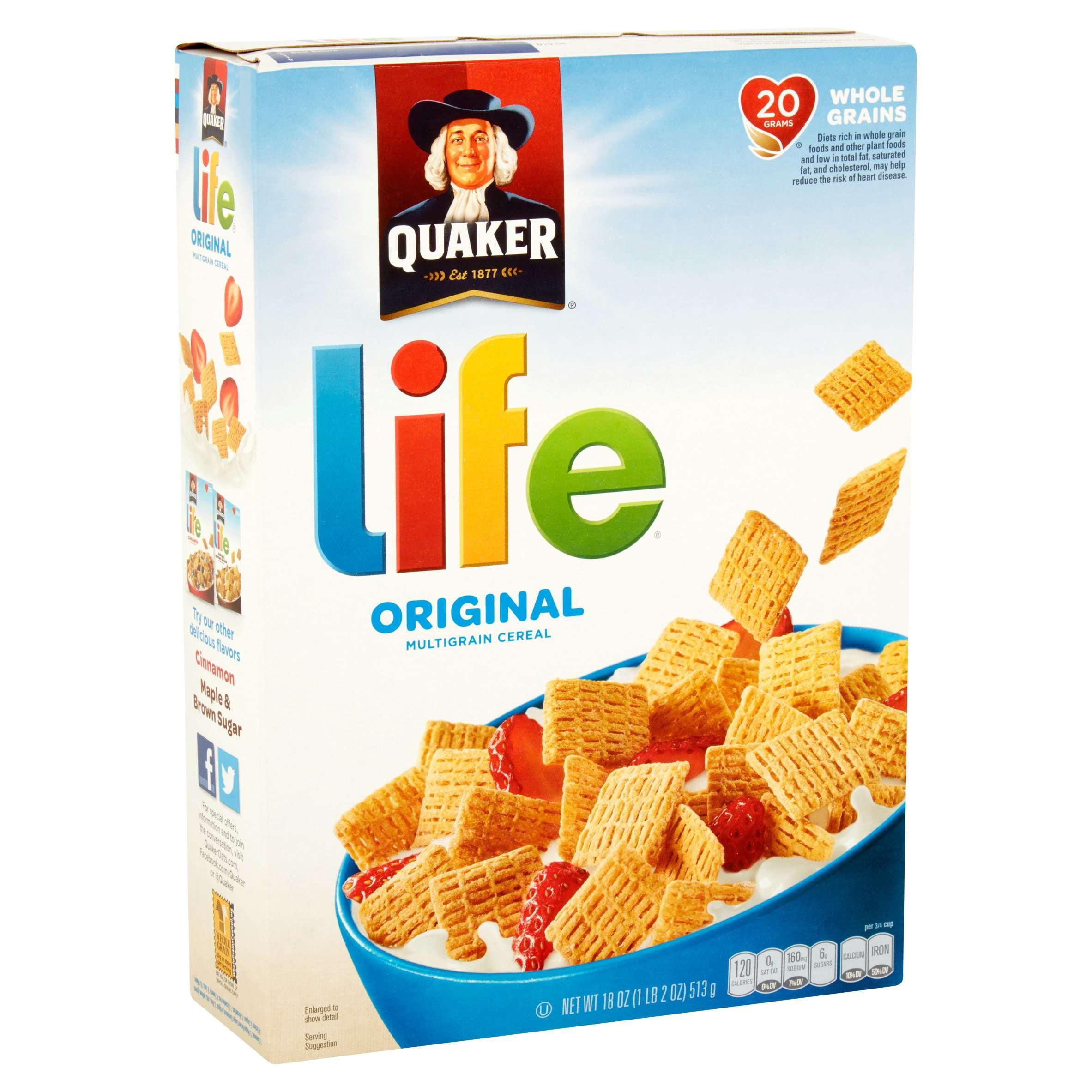 Quaker Life Multigrain Cereal, Original, 18 oz Box
