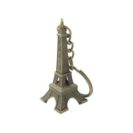 Paris Eiffel Tower Model Pendant Handbag Decor Split Ring Keychain - Eiffel Tower Ring