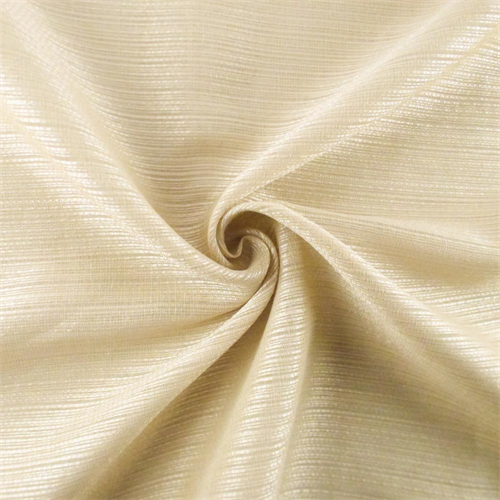 Champagne Beige Ribbed Sheer Drapery Fabric, Fabric By the Yard