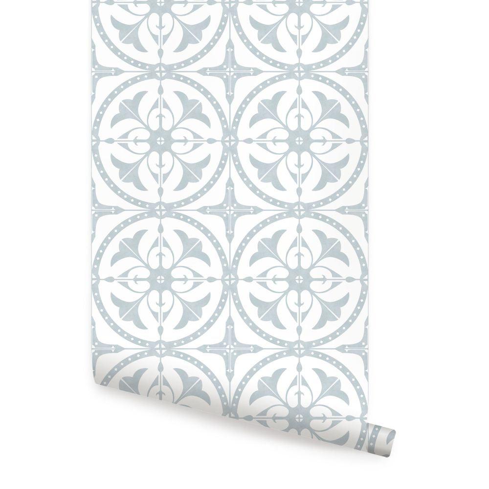 Round Moroccan Tile Peel and Stick Wallpaper - Walmart.com ...