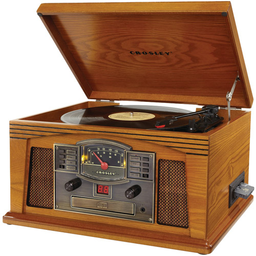 Crosley Radio CR42C-PA Lancaster Musician Entertainment Center, Oak