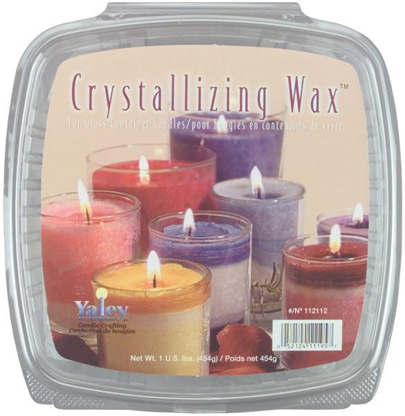 Yaley Crystallizing Candle Wax, 1 lb, Glass Containers