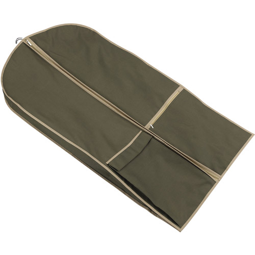 Olive Garment Suit Bag with Shoulder Strap