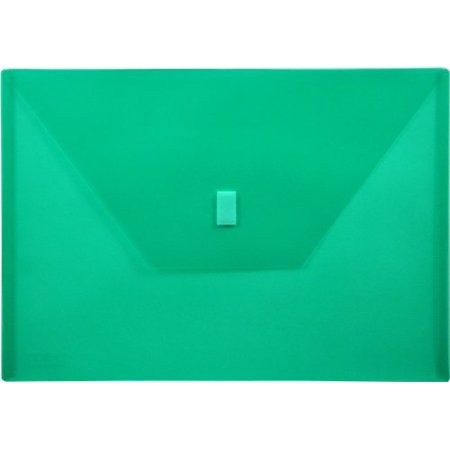 Green Loops - Lion LIO22080GR Hook & Loop Closure Poly Envelopes, Green