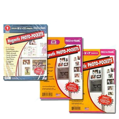 Clear Magnetic Picture Frames, Set of 4
