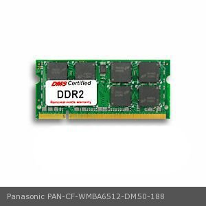 DMS Compatible/Replacement for Panasonic CF-WMBA6512 Toughbook 74 512MB DMS Certified Memory 200 Pin  DDR2-667 PC2-5300 64x64 CL5 1.8V SODIMM - DMS ()