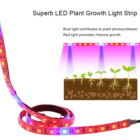 DC12V 18W 1 * 1.5M 90 LED Plant Growth Lamp Light Kit IP54 Water Resistance for Indoor Outdoor Greenhouse Flowers Balcony - image 2 de 7