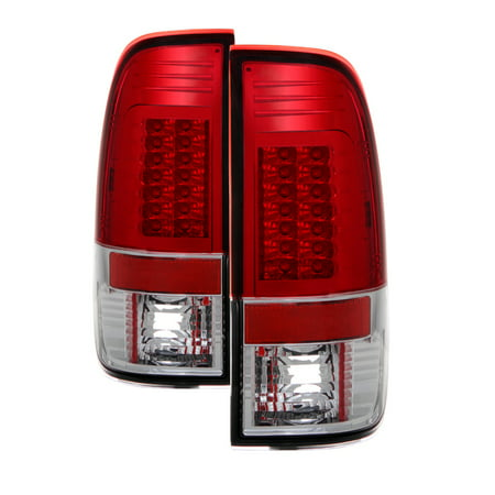 For 97 03 Ford F 150 F150 Gen 2 Sonar Led Tail Lights Red Clear Yd Alt Ff15097 Led G2 Rc