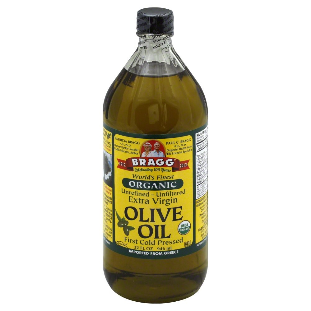 Bragg Organic Unrefined Unfiltered Extra Virgin Olive Oil, 32.0 FL OZ by Bragg