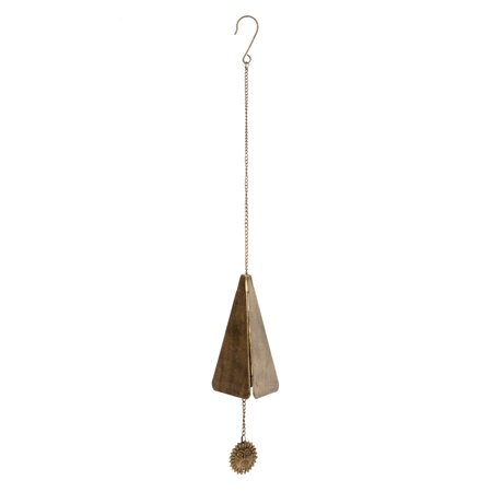- Hosley's Antique Gold Finish Triangle Wind Chime, Large 9.75