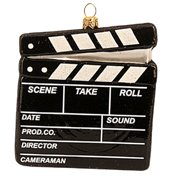 Clapperboard Polish Glass Christmas Ornament Movies Film Director Art Hollywood
