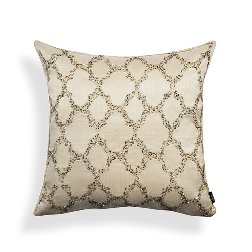 A1 Home Collections LLC Bead Work Ogee Throw Pillow