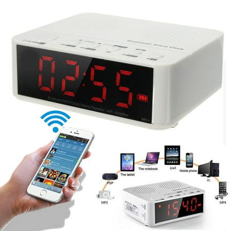 Digital LED Display Night Vision Alarm Clock + HIFI A2DP Stereo Bluetooth Speaker FM Radio Mp3 Player TF Snooze Handfree Calls