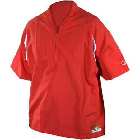 Louisville Slugger Youth Slugger Batting Cage Pullover with 1/4 Zip, Red