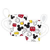 Disney Mickey Mouse Parts Mug with Spoon, White
