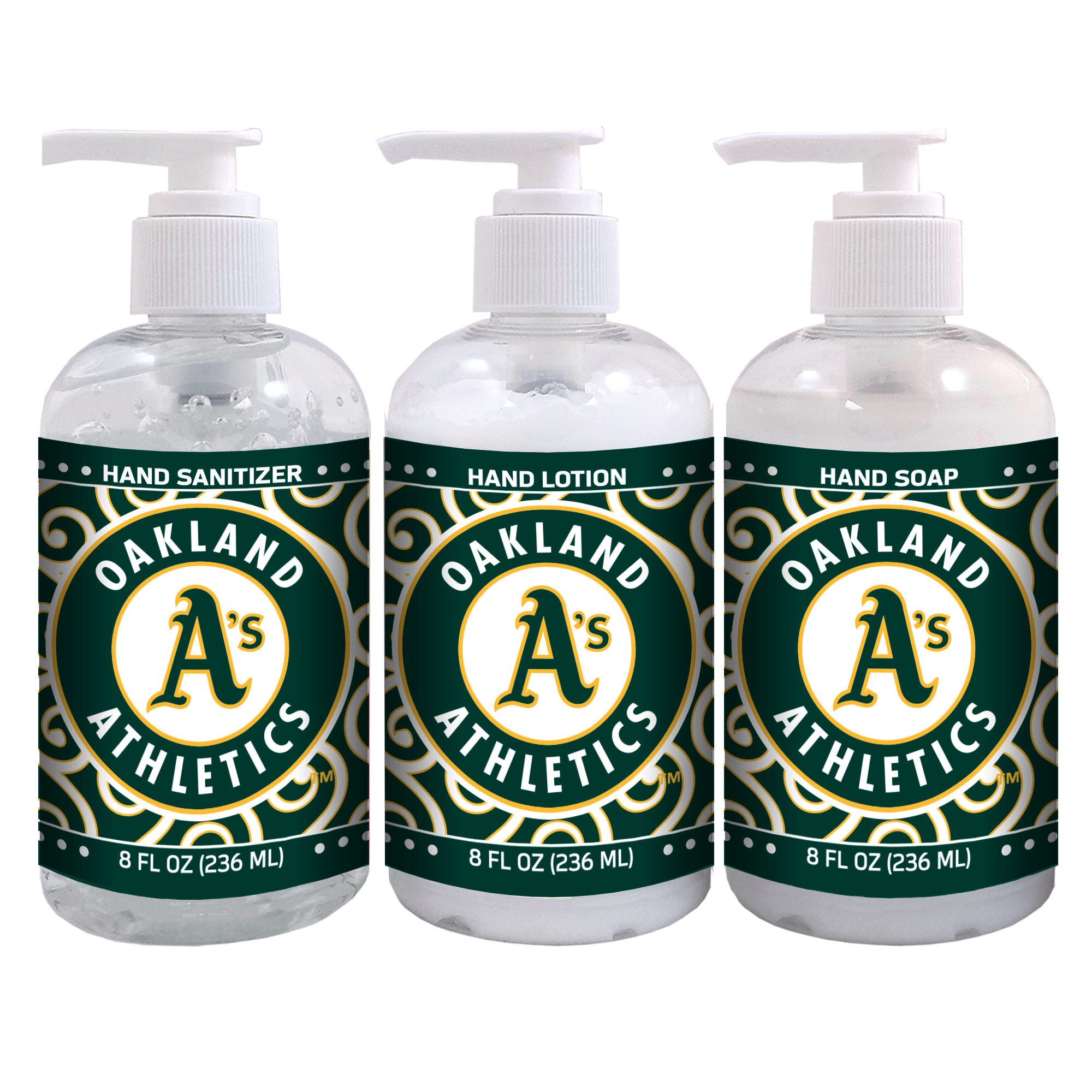 Oakland Athletics 8oz. Hand Care 3-Piece Set - No Size