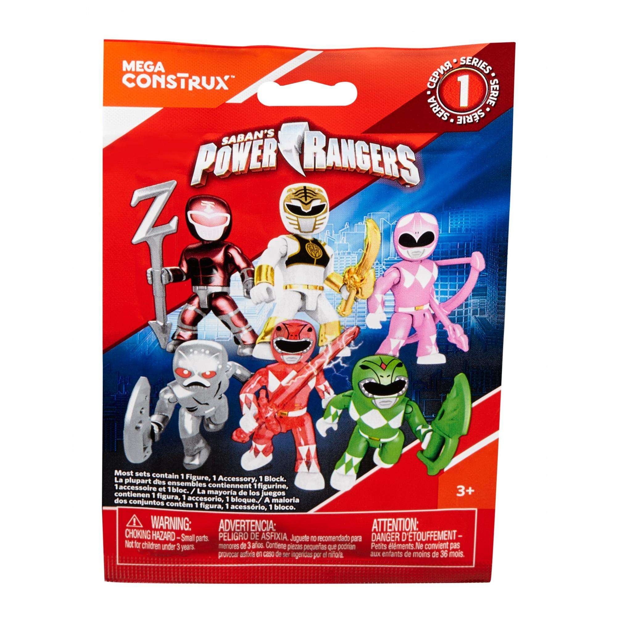 Mega Construx Power Rangers Micro Action Figure Mystery Bag (Blind Pack) by Mattel