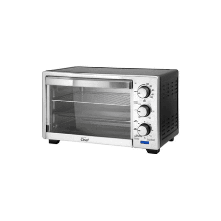 Master chef convection stainless steel toaster oven 6 - Cool touch exterior convection toaster oven ...