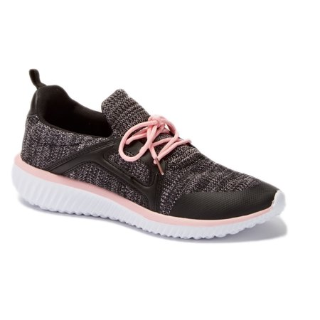 Shop Pretty Girl Womens Sneakers Athletic Knit Mesh Running Light Weight Go Easy Walking Casual Comfort Running Shoes 2.0 (7, Black and Pink - J3947B)