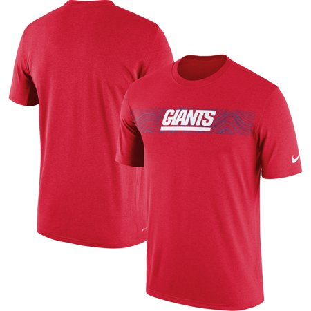 brand new 12442 9e803 New York Giants Nike Sideline Seismic Legend Performance T-Shirt - Red