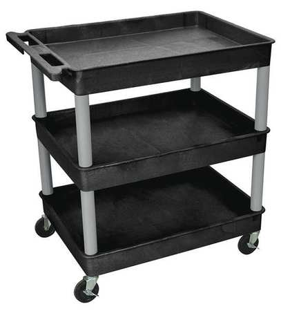 Utility Cart,400 lb. Load Cap.,3 Shelves ZORO SELECT BKTC111GY