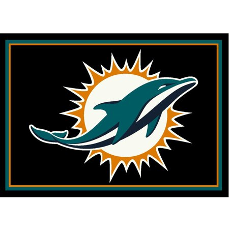 Imperial Dolphin Table (Miami Dolphins Imperial 4' x 6' Spirit Rug - No Size)