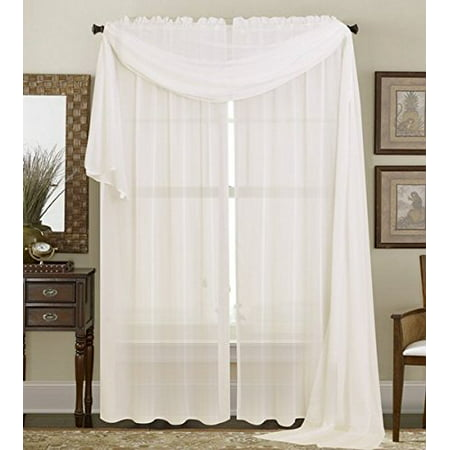 2PC Solid Sheer Panel Curtain Drape Long Fully Stitched for Wedding Quinceniera party décor avilable in Multiple Colors and Sizes ( 84