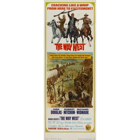 The Way West Poster Movie Insert A  14X36