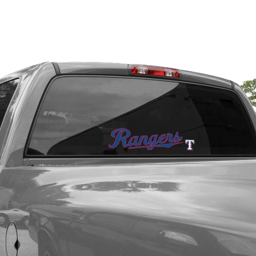 WinCraft Texas Rangers 3'' x 10'' Perfect Cut Decal - Royal Blue - No Size