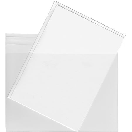 Clear Plastic Sleeves for A2 Cards & Envelopes - 100 Sleeves