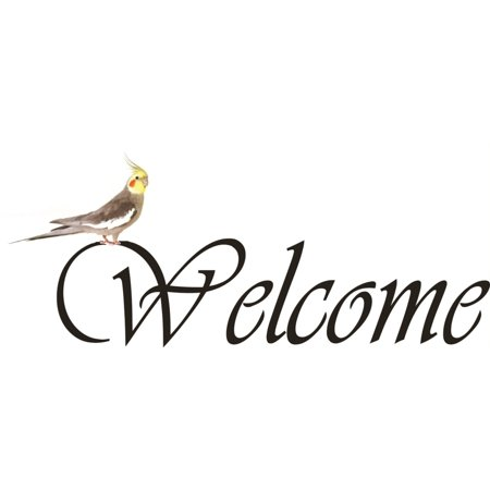 new wall ideas welcome sign with a parrot office home dãƒâ cor 8 x