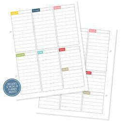 Bulk Buy: Simple Stories (3-Pack) Sn@p! Life Documented Inserts 6X8 26/Pkg Plan Your Week Includes 52 Weeks SNAP7046