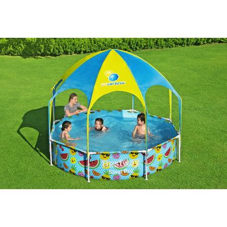 Bestway - Steel Pro UV Careful Splash-in-Shade Round Above Ground Pool Set