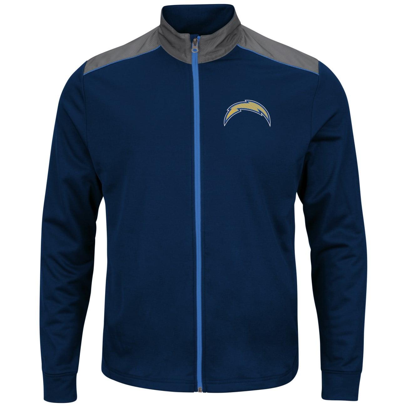"San Diego Chargers Majestic NFL ""Team Tech"" Men's Full Zip Jacket Sweatshirt by Majestic"