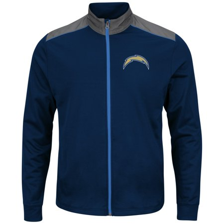 "San Diego Chargers Majestic NFL ""Team Tech"" Mens Full Zip Jacket Sweatshirt by"