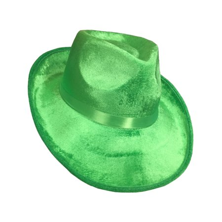 Ganster Hats (Deluxe Green Felt Roaring 20s Gangster St Patricks Day Fedora)