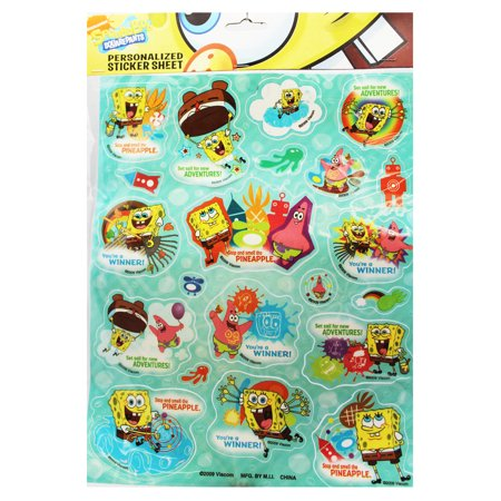 - Spongebob Squarepants Patrick and Spongebob Assorted Sticker Set (19 Stickers)