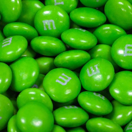 Green M&Ms Candy 2lb  - Milk - Green M And M