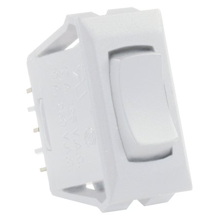 JR Products 12695 Momentary-On/Off/Momentary-On Switch with Bezel - White