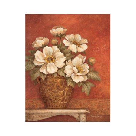 Villa Flora Peonies Print Wall Art By Pamela Gladding