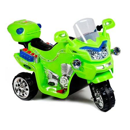 Ride on Toy, 3 Wheel Motorcycle for Kids, Battery Powered Ride On Toy by Lil' Rider – Ride on Toys for Boys and Girls, 2 - 5 Year Old - Green FX - Best Toys For 10 Year Old Boy