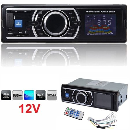 Car Stereo Audio In-Dash FM Aux Input Receiver SD USB MP3 Radio Player 1-DIN 12V ()