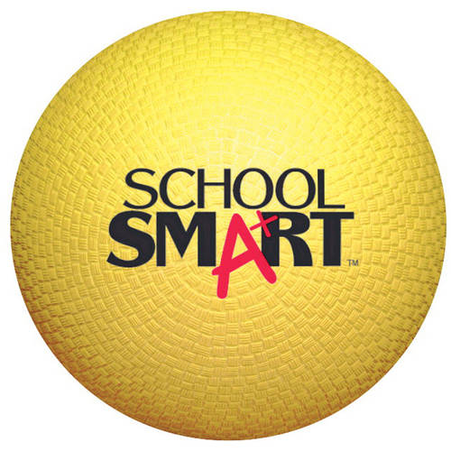 "School Smart 5"" Playground Ball, Yellow"