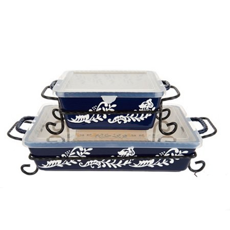 (Valerie Bertinelli 4-Piece Bake And Serve Set with Lid)