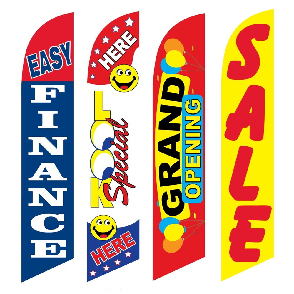 4 Advertising Swooper Flags Easy Finance Look Special Here Grand Opening Sale