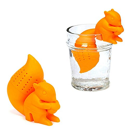 Amazing Odyssey Squirrel Tea Infuser Tea Silicon (Light Blue)