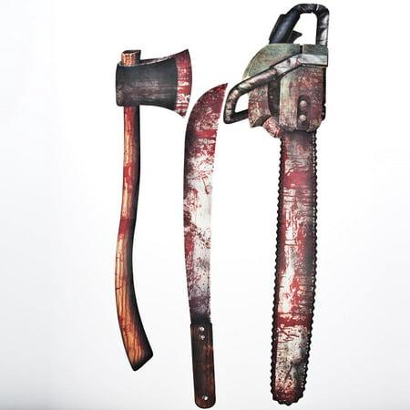 Bloody Weapon Cutouts (3/Pkg) ()