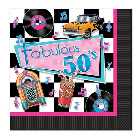 50's Theme Party Ideas ((Pack of 192) Fabulous 50's Luncheon)
